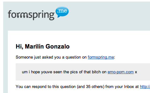Gmail - Someone asked you a question on formspring.me - marilink@gmail.com