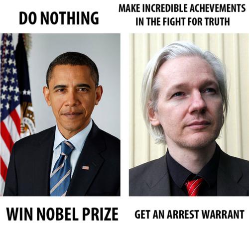 Obama y Assange