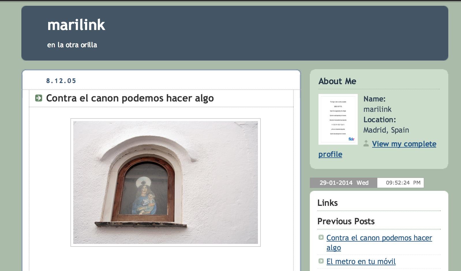 Marilink en Blogspot