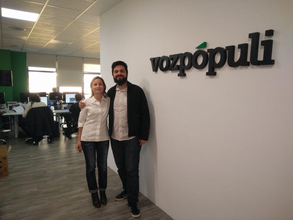 Marilín Gonzalo y Pablo M. Fernández en Vozpópuli